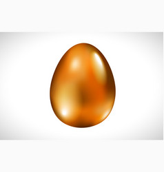 isolated orange easter egg on white background vector image