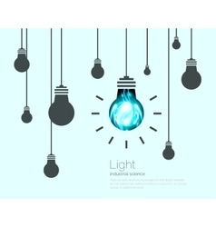 Light Bulbs Background Industrial Science Idea vector image
