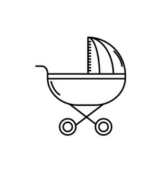 line baby stroller tool to baby relax vector image