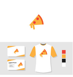 logo design with business card and t shirt mockup vector image