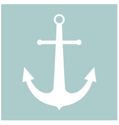 Marine anchor the white color icon vector