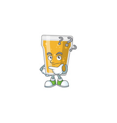 Mascot design mug beer with confuse gesture vector