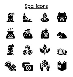 massage spa alternative therapy icon set graphic vector image