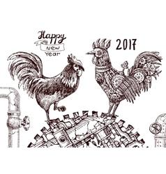 mechanical cock vector image