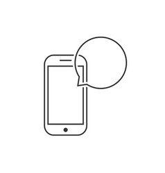 Messaging with thin line smart phone vector