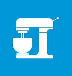minimal flat kitchen mixer machine icon ill vector image