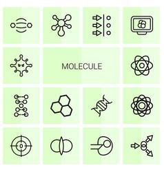molecule icons vector image