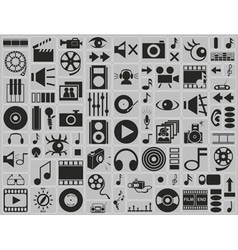 music video photo icons vector image
