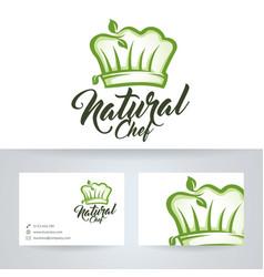 Natural chef logo design vector