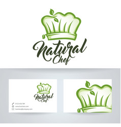 natural chef logo design vector image