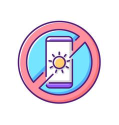 No devices rgb color icon vector
