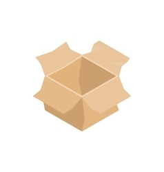 Open empty cardboard box icon isometric 3d style vector image