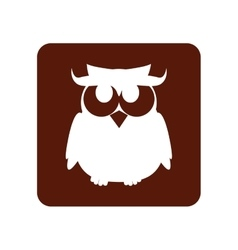 owl halloween card icon vector image