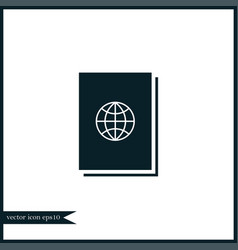 Passport icon simple vector