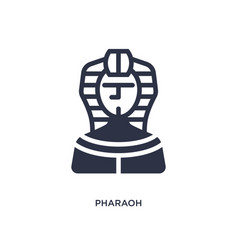 Pharaoh icon on white background simple element vector
