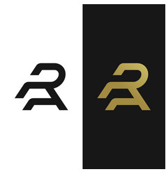 premium ra logo in two color variations vector image