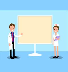 presentation doctor cartoon vector image