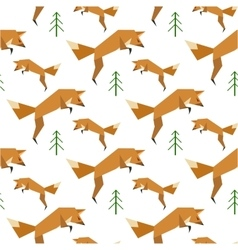 Red Fox Pattern vector image