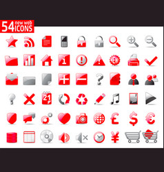 red web icons vector image
