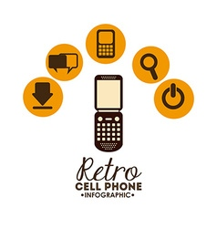 retro cellphone vector image