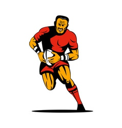 rugby player kicking the ball vector image