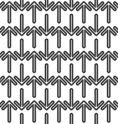 Seamless black and white arrow pattern vector