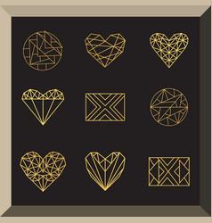 Set of geometric icons vector