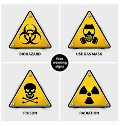 set warning signs vector image