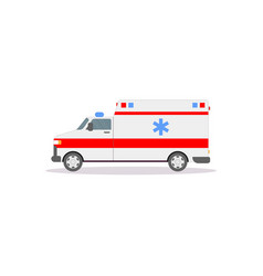 side view ambulance car vector image
