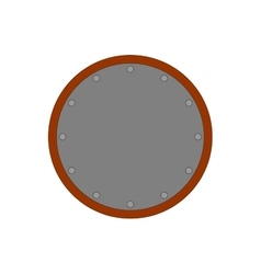 Sign shield silver round 2307 vector
