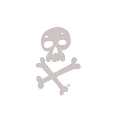 skull crossbones jolly roger pirates danger vector image