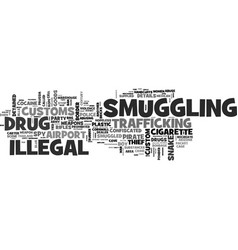 Smuggling word cloud concept vector