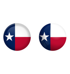 texas lone star flag under 3d dome button and on vector image