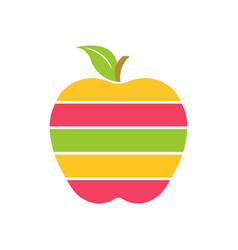 The colorful apple logo vector