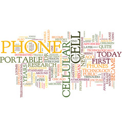 The origin of the cell phone text background word vector