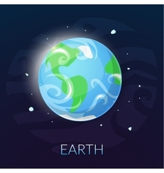 The planet Earth vector image