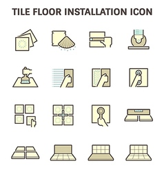 Tile floor icon vector