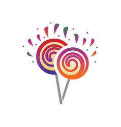 Two lollipops vector
