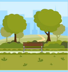 urban park cartoon outdoor vector image
