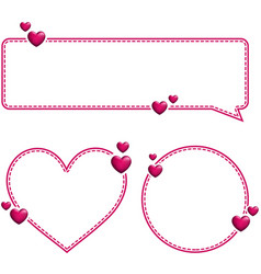 Valentine s pink templates with hearts vector