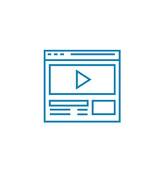 video on the website linear icon concept video on vector image