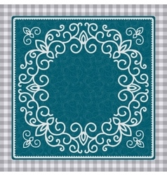 Vintage card with ornament vector image