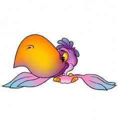 violet parrot vector image