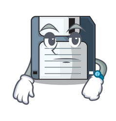 Waiting floppy disk in writing wallet vector