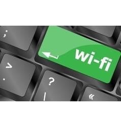 wi-fi button on computer keyboard Keyboard keys vector image