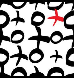 X and o or xo symbols seamles pattern vector