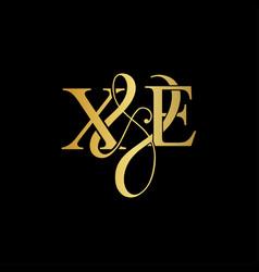 xe x e logo initial mark vector image