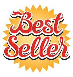 Best Seller Sticker vector image