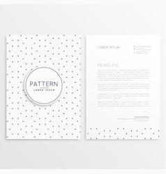 clean minimal letterhead template vector image