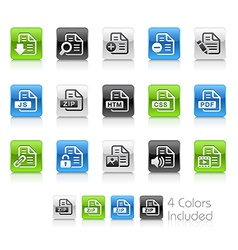 Document Icons 1 Clean Series vector image vector image